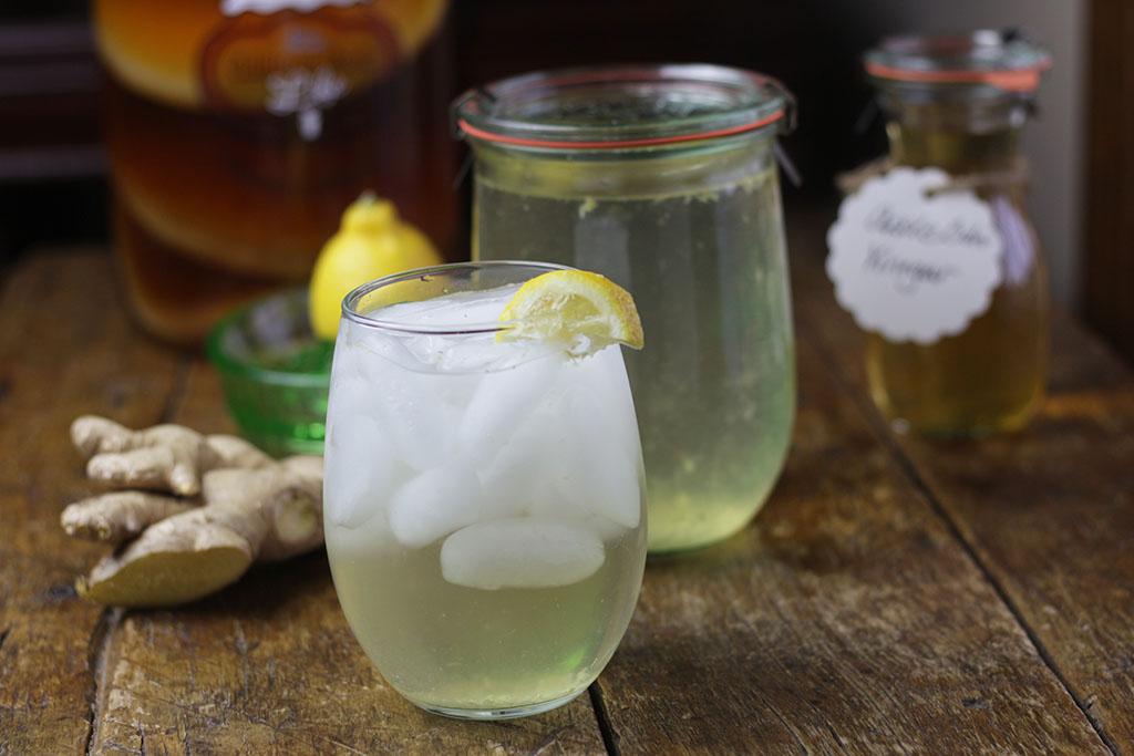 Kombucha cider drink