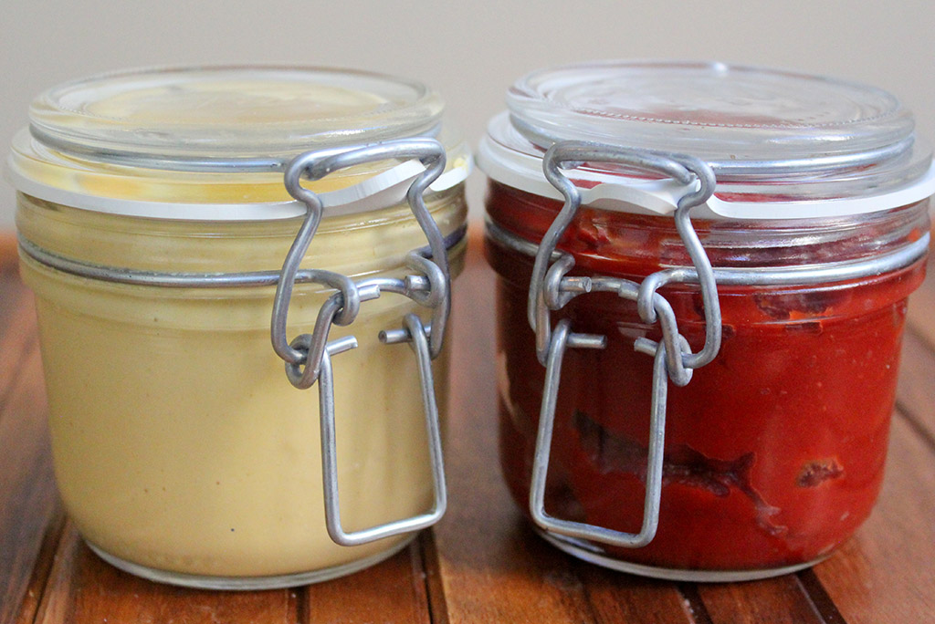 Ketchup & Mustard Jars