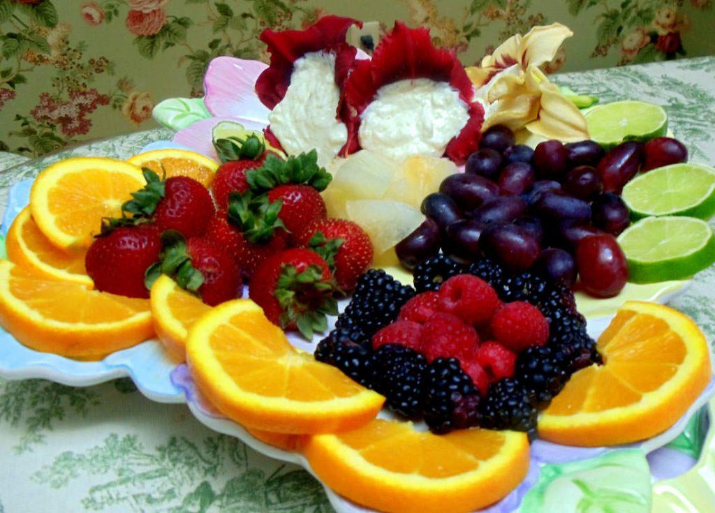 Kefir fruit dip