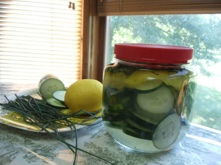 Rosemary Sage Lemon Pickles