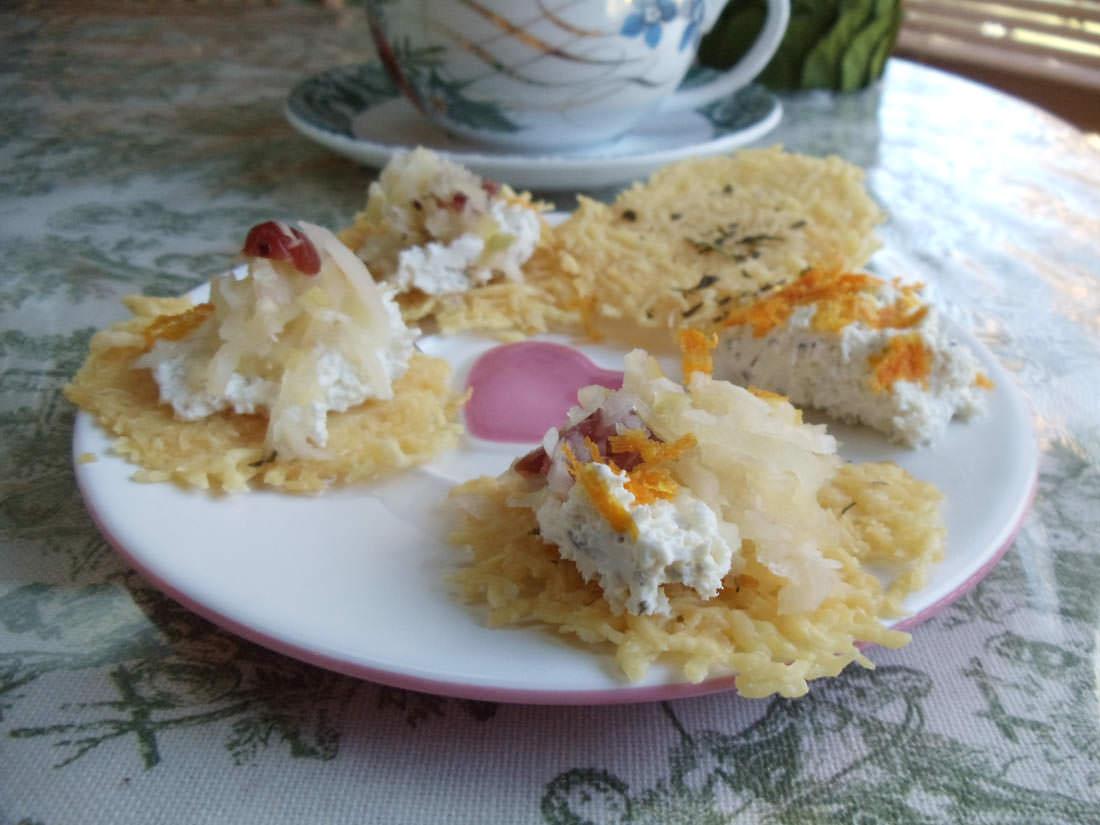 kraut and parmesan crisp