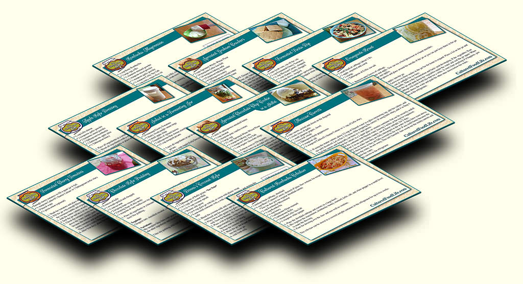 Cultured food for life cultured food life 3d recipe cards forumfinder Choice Image
