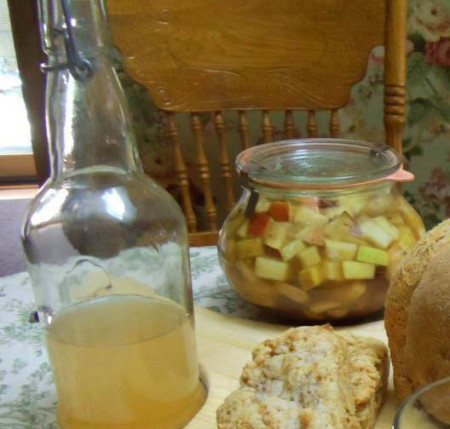 Cultured fruit chutney
