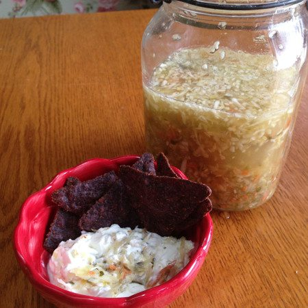 Shelley's cultured veggies and kefir cheese