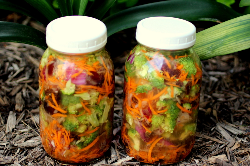 Cultured Broccoli Salad in a Jar