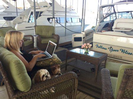 donna at boat
