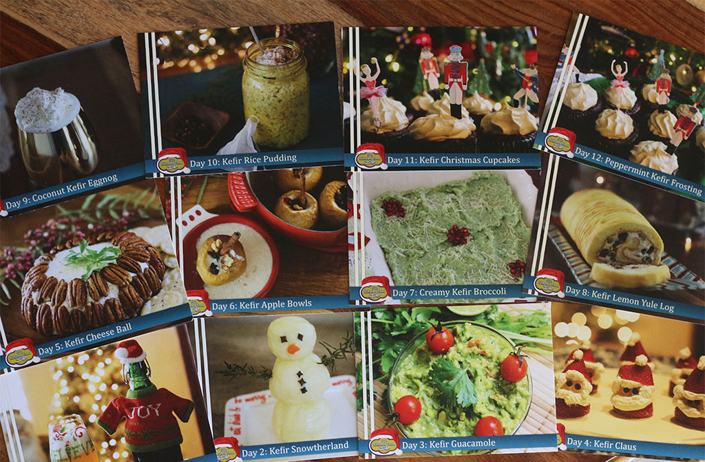 12 days of kefir recipe cards
