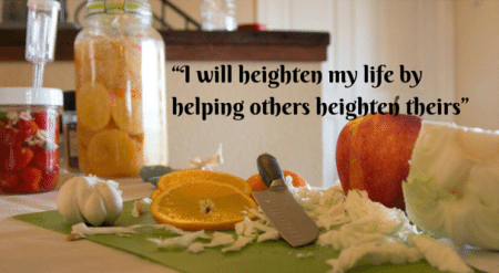"""""""I will heighten my life by helping copy copy"""