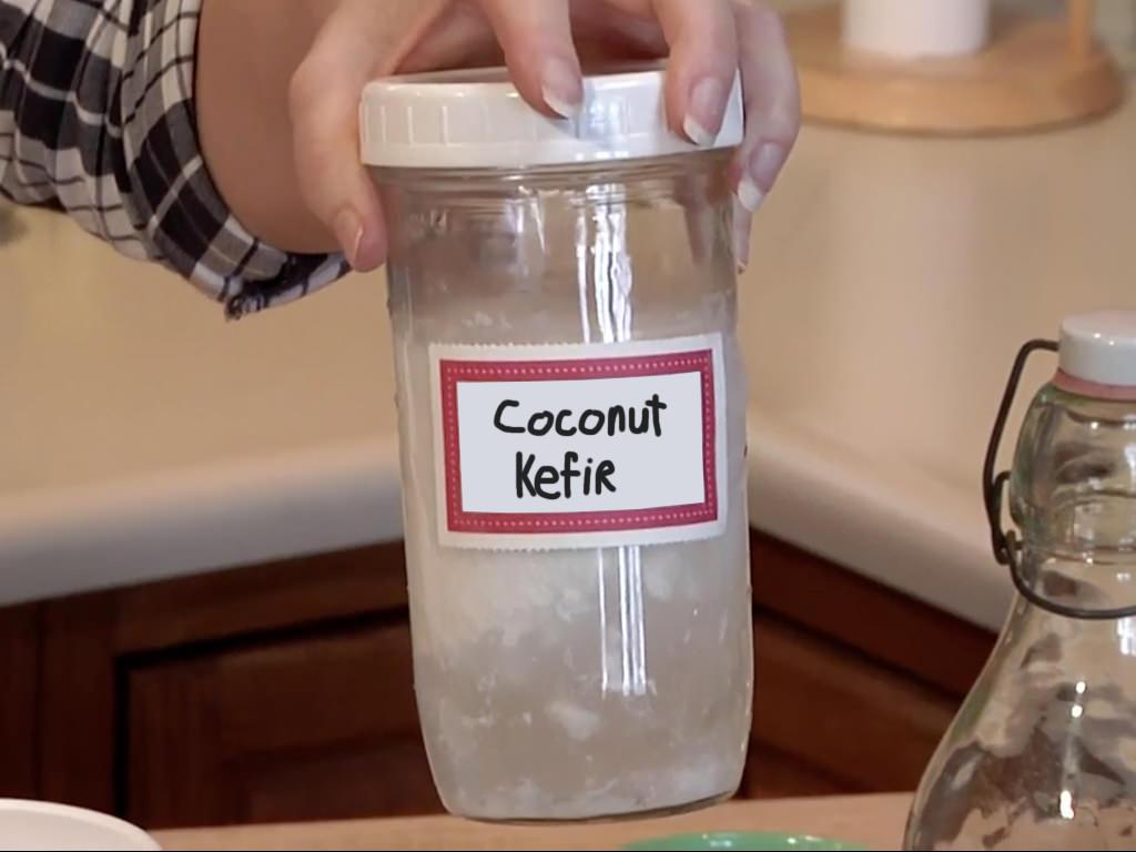 kefir. https://www.culturedfoodlife.com/wp-content/uploads/2015/03/coconut-kefir .jpg kefir