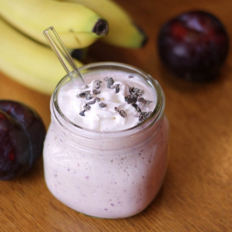 Plum and Banana Kefir Smoothie