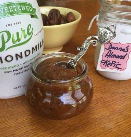 date and almond milk kefir