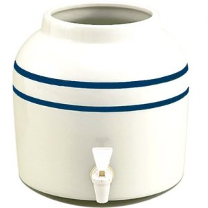 New Wave Enviro Blue Striped Porcelain Water Dispenser, 2.5-Gallon(single)