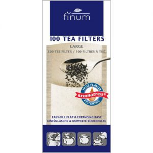 Finum 100 Tea Filters, Large, Brown
