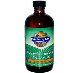 Garden of Life - Olde World Icelandic Cod Liver Oil Lemon mint flavour, 8 fl oz liquid