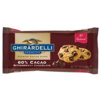 Ghirardelli 60% Cacao Bittersweet Chocolate Baking Chips, 11.5 oz.