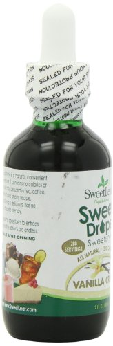 Sweet Leaf Sweet Drops Vanilla Creme Flavored Liquid Stevia, 2-Ounce Bottle