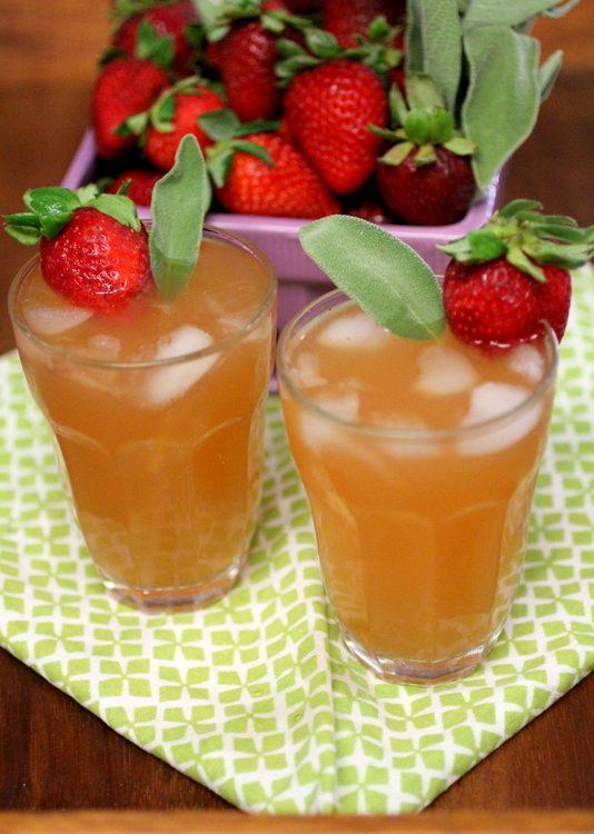 Strawberry Sage Water Kefir