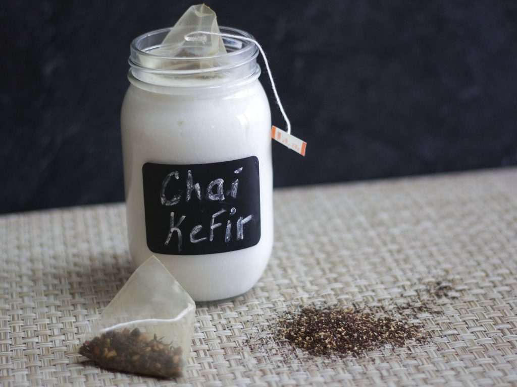 Kefir Second Fermented with Chai