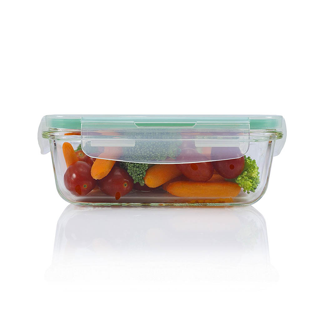10 piece square glass food storage container set. Black Bedroom Furniture Sets. Home Design Ideas