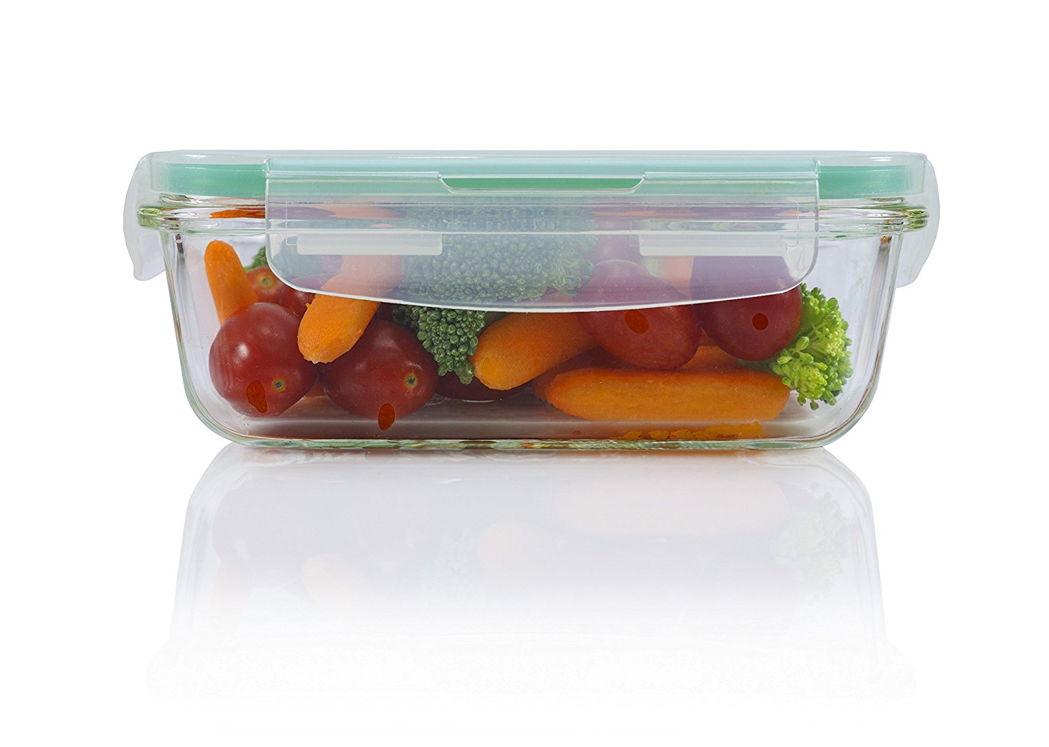 10 Piece Square Glass Food Storage Container Set Cultured Food Life
