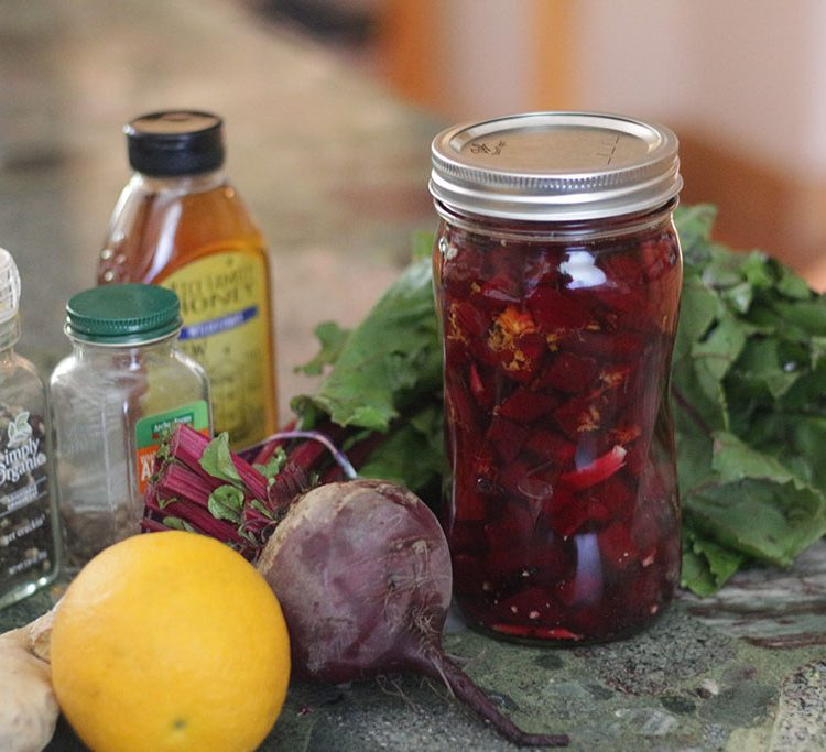Spicy Cultured Beets and Honey
