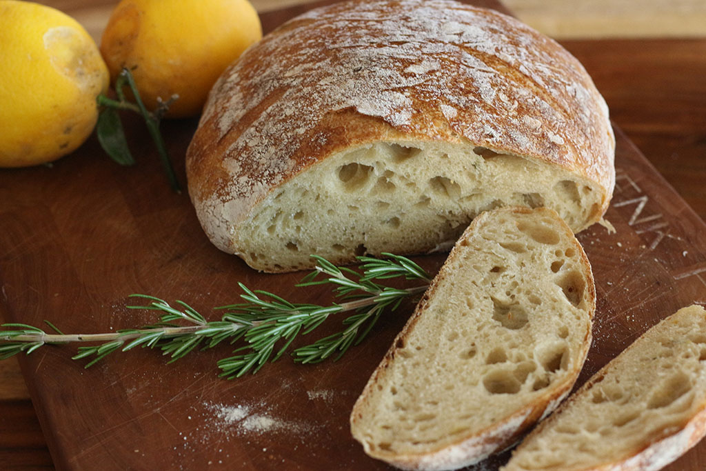 Lemon Rosemary sourdough
