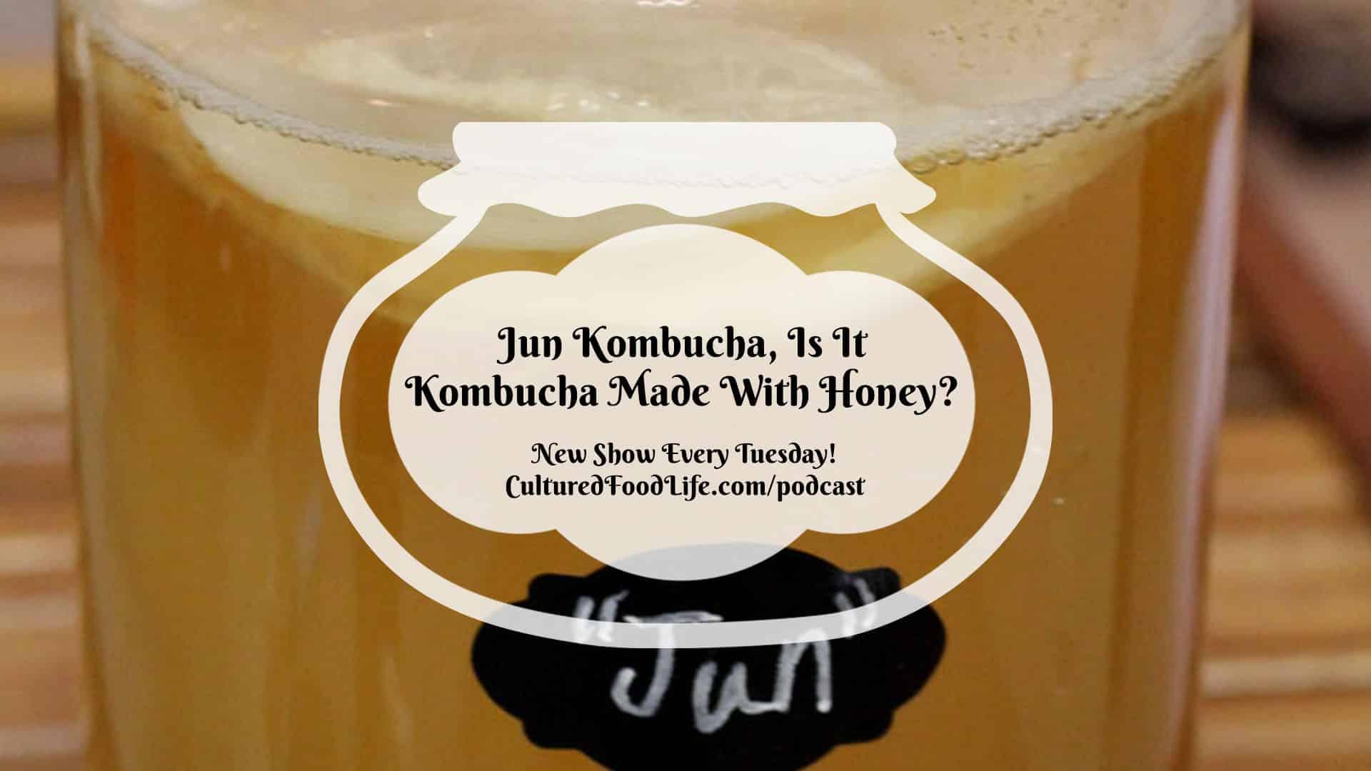 Jun Kombucha, Is It Kombucha Made With Honey