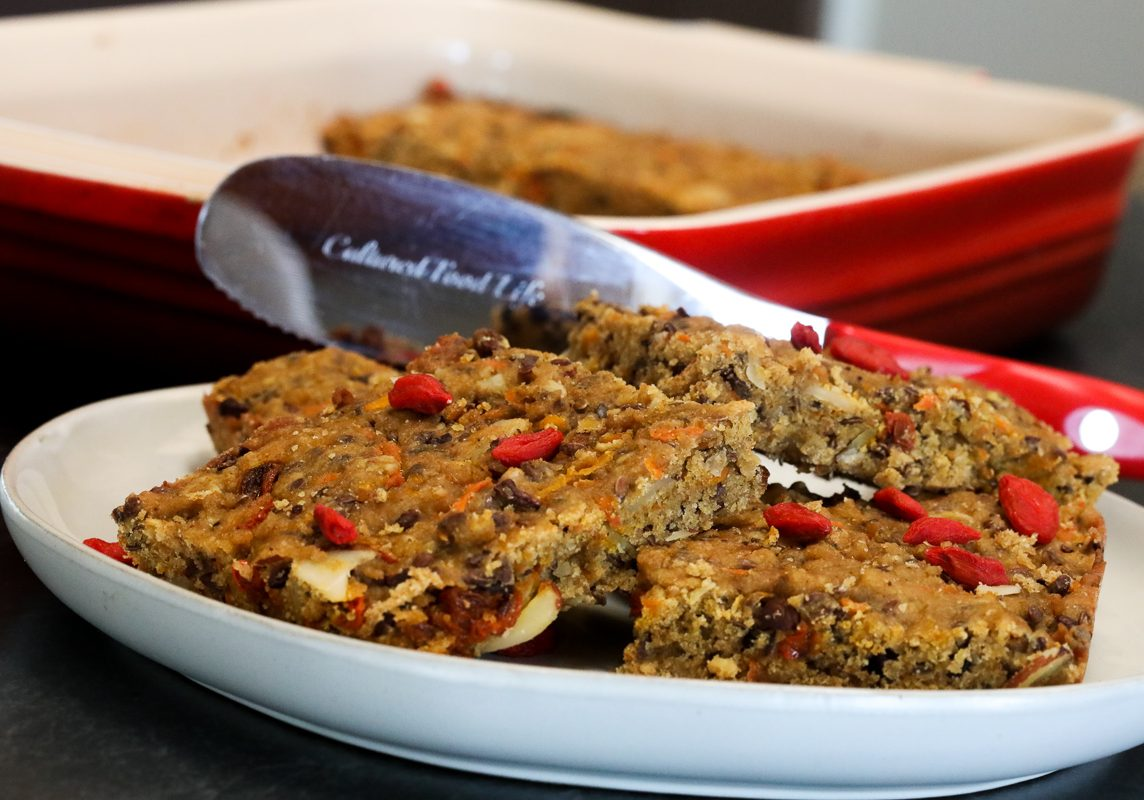 Berry sprouted bars