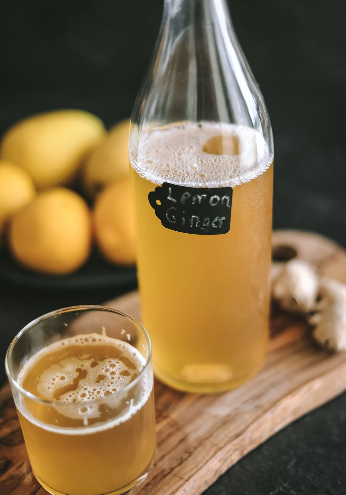 Lemon ginger kombucha 5