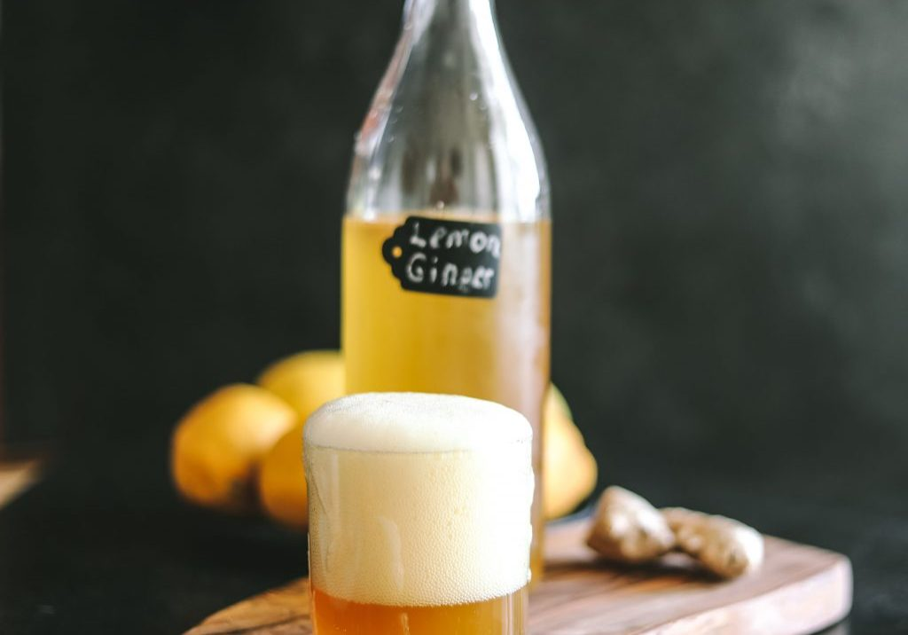 Lemon Ginger Kombucha